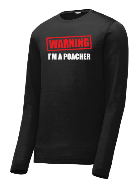 Dinkers & Bangers 'Warning I'm A Poacher' Men's Long Sleeve