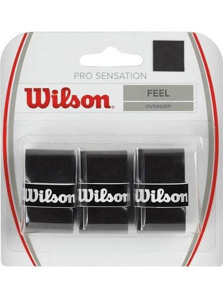 Wilson Pro Sensation Overgrip Black 3 Pack