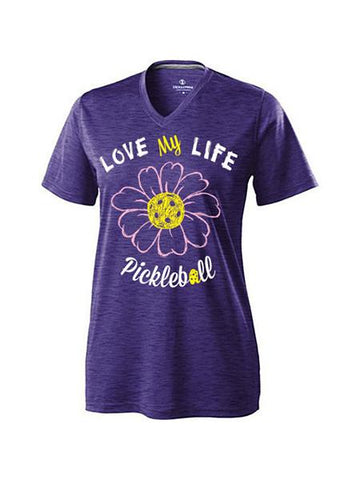 Women's Apparel - IDink - Love My Life V-Neck (Purple)
