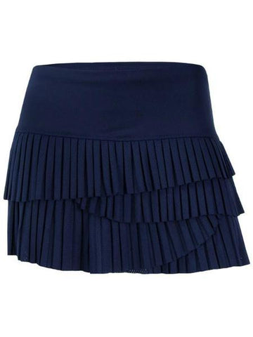 Women's Apparel - Lucky In Love Athena Pindot Pleated Scallop Skort CB163-401