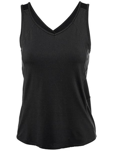 Women's Apparel - Lucky In Love Core V-Neck Tank Black CT366-001