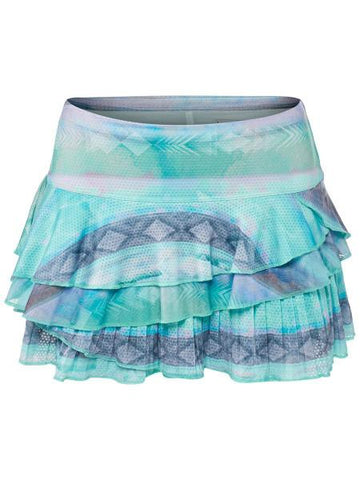 Women's Apparel - Lucky In Love Desert Shore Wild Rally Pleated Skort CB215-259403