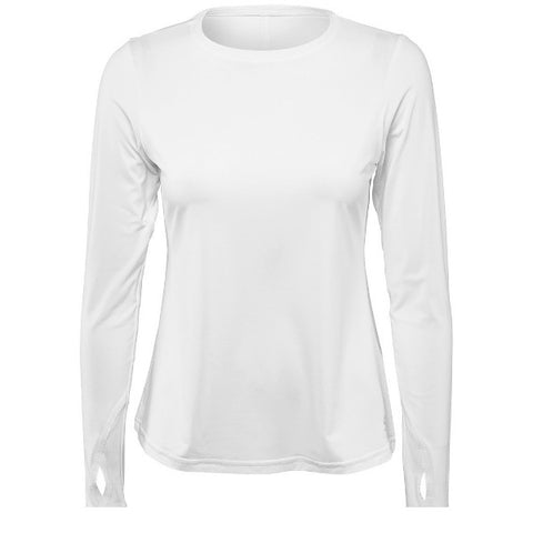 Women's Apparel - Sofibella Fusion Crewneck Long Sleeve /White