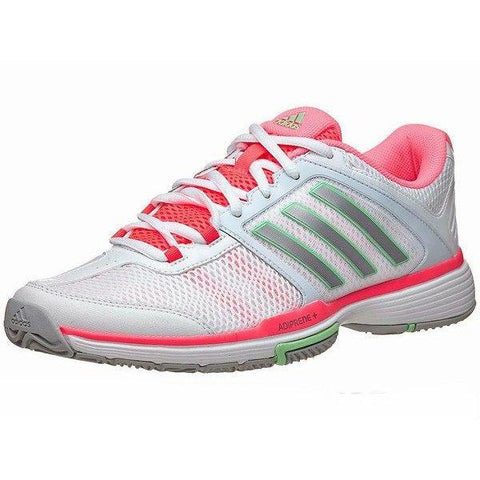 Women's Shoes - Adidas Barricade Team 4 White/Silver/Pink Women's Shoes