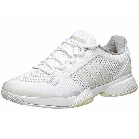 Women's Shoes - Adidas SMC Barricade 2015 White/Silver Women's Shoes