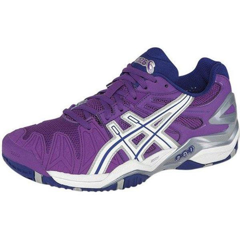 Women's Shoes - Asics Gel Resolution 5 Grape/White/Silver Women's Shoes