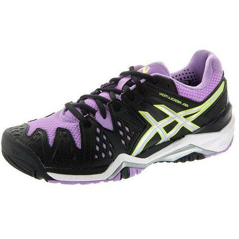 Women's Shoes - Asics Gel Resolution 6 Black/Silver/Orchid Women's Shoes
