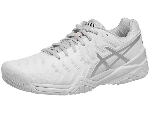 Women's Shoes - Asics Gel Resolution 7 White/Silver Women's Shoes E751Y-0193