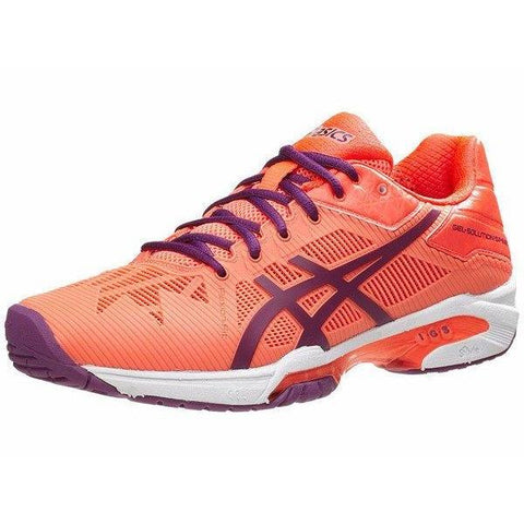 Women's Shoes - Asics Gel-Solution Speed 3 Flash Coral/Plum/Flash Coral Women's Shoes