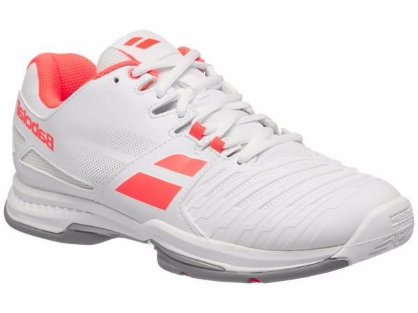Women's Shoes - Babolat SFX2 All Court White/Pink Women's Shoes