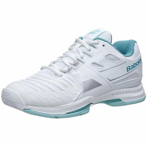 Women's Shoes - Babolat Women's SFX2 All Court White/Blue Women's Shoe