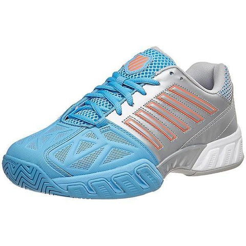 Women's Shoes - K-Swiss Bigshot Light 3 Blue/Silver/Coral Women's Shoes 95366-058