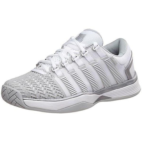 Women's Shoes - K-Swiss Hypercourt 2.0 White/Grey/Silver Women's Shoes 95394-172
