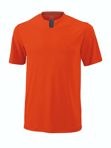 Wilson Men's Henley Orange/Ebony WRA745807