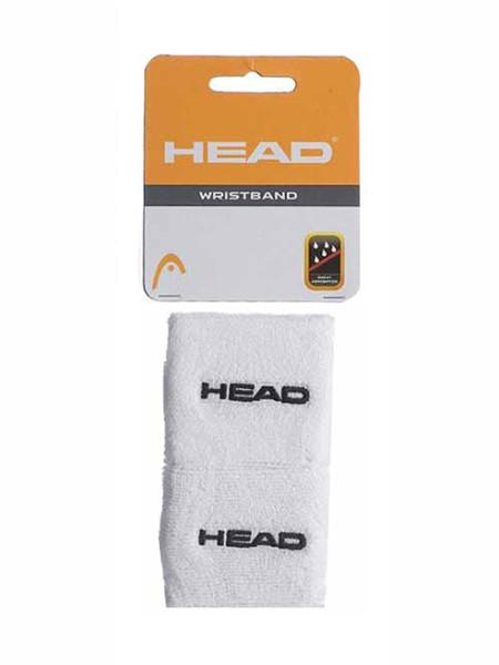 Wristbands And Headbands - Head Wristband 2.5 Inch White 2 Pack