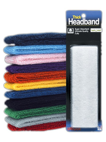 Wristbands And Headbands - Tourna Headband Thick 2-Ply