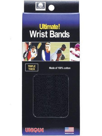 Wristbands And Headbands - Tourna Ultimate Wrist Bands Black