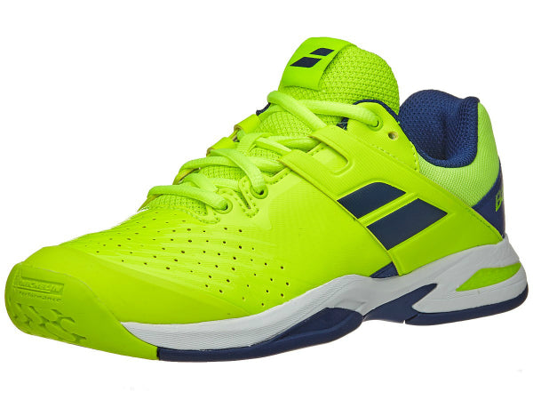 Babolat Junior Propulse Fury All Court Tennis Shoe Fluo Yellow/Estate Blue