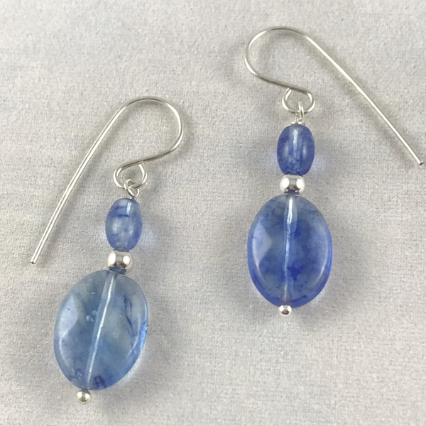 Blueberry Quartz Earrings - Giulian Lyn