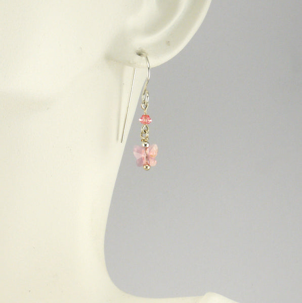 Rose Butterfly Earrings - Giulian Lyn