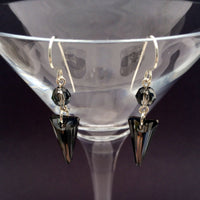 Silver Night Spike Earrings - Giulian Lyn