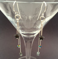 Northern Lights and Hematite Earrings