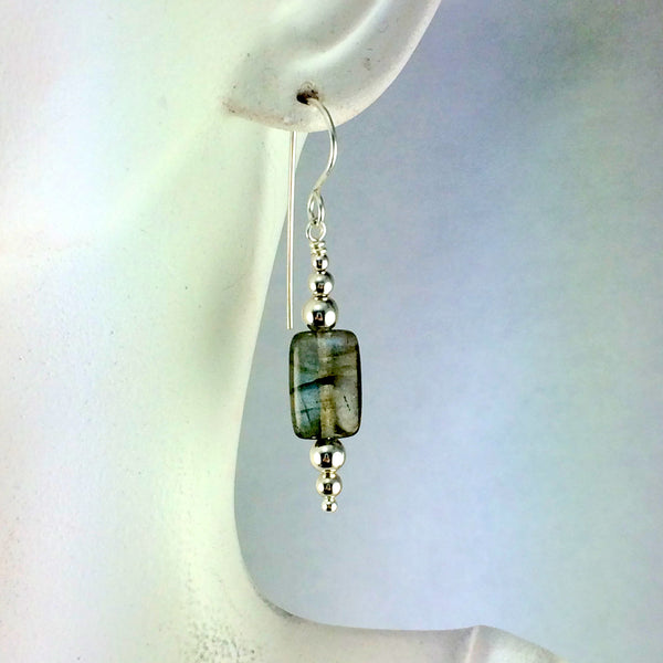 Labradorite Pillow Earrings