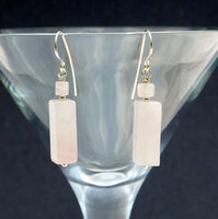 Large Rose Quartz Earrings - Giulian Lyn