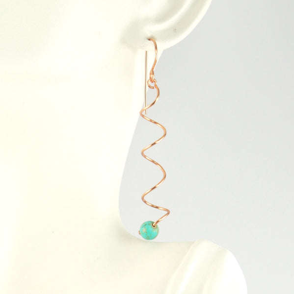 Turquoise and copper spiral - Giulian Lyn