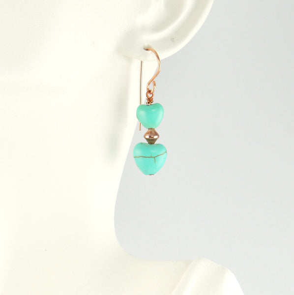 Copper and Magnesite Hearts - Giulian Lyn