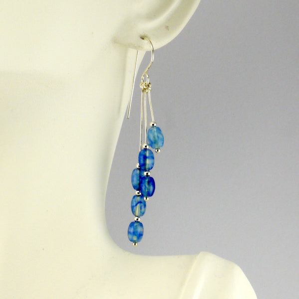 Blueberry Quartz Earrings