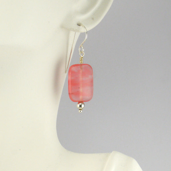 Large Strawberry Obsidian Earrings