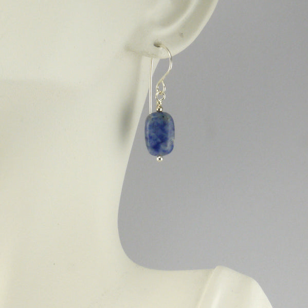 Sodalite Pillow Earrings - Giulian Lyn