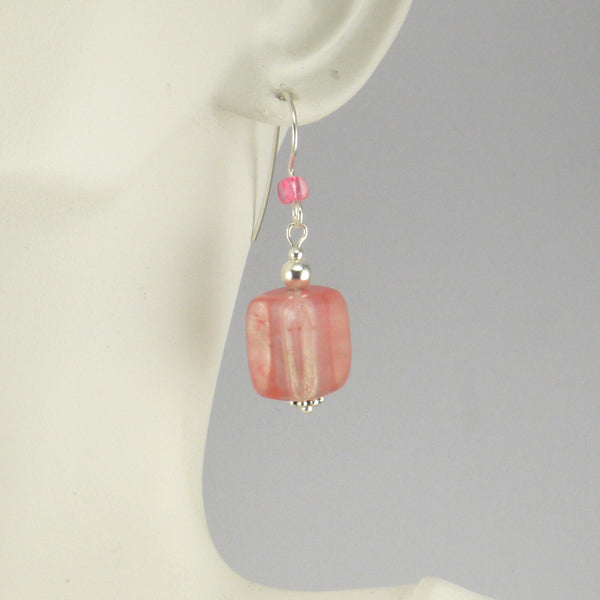Strawberry Obsidian Earrings - Giulian Lyn