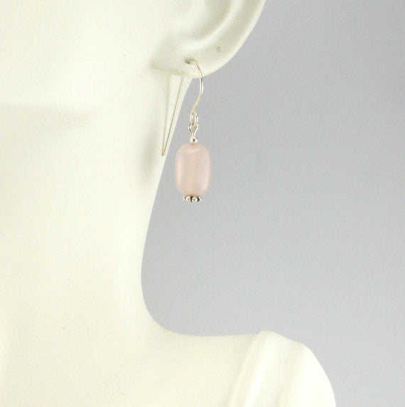 Rose Quartz Earrings - Giulian Lyn