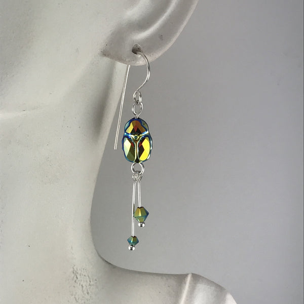 Scarab beetle earrings - Giulian Lyn