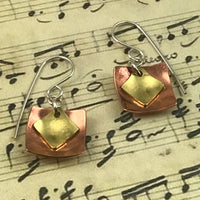 Copper Mixed Metal Earrings