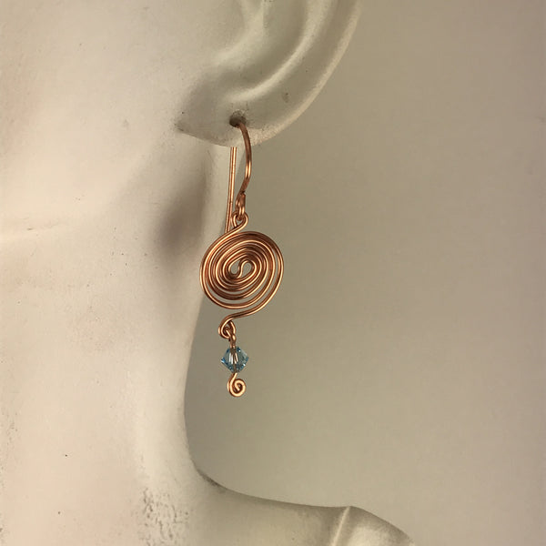 Copper double spiral - Giulian Lyn
