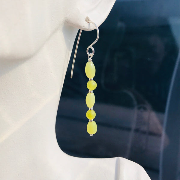 Olive Jade Earrings - Giulian Lyn