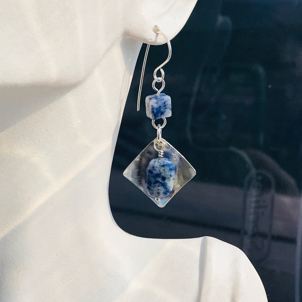 Sodalite with Silver Diamonds