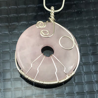 Rose Quartz Wire Wrapped Necklace - Giulian Lyn