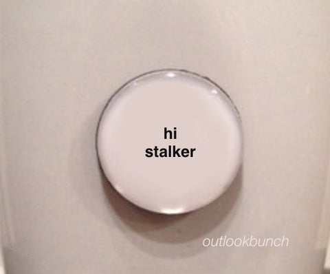 "1"" Mini Quote Magnet - Hi Stalker"