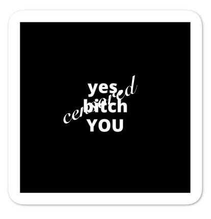 "2x2"" Quote Stickers (4) - Yes, B* YOU"