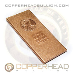 1 Pound Copper Bar - Walking Liberty