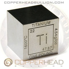 1 Pound Titanium Cube - Element Design