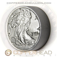 2 Pound Iron Round - Walking Liberty