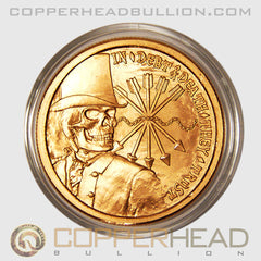 Debt & Death 1 oz Copper Coin - Silver Bullet Silver Shield Series
