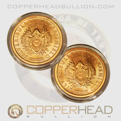 Double Reverse Shield 1 oz Copper Coin - Silver Bullet Silver Shield Series
