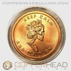 Slave Queen 1 oz Copper Coin - Silver Bullet Silver Shield Series