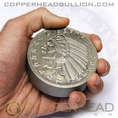 1 Pound Titanium Round - Incuse Indian